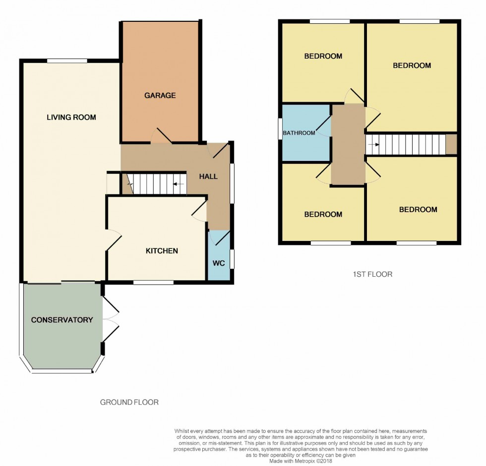 Floorplan for Oakhurst Close, Hastings, East Sussex